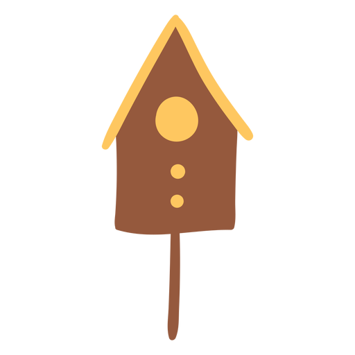 Bird house brown colored Transparent PNG