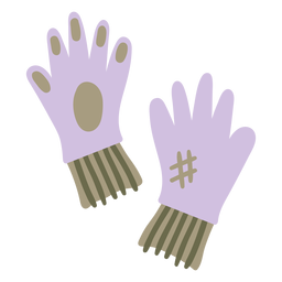 Gardening gloves purple colored