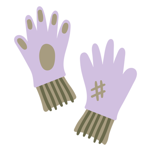 Gardening gloves purple colored Transparent PNG