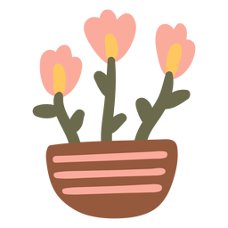 Maceta de flores de jardín