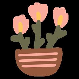 Recipiente para vaso de flores no jardim