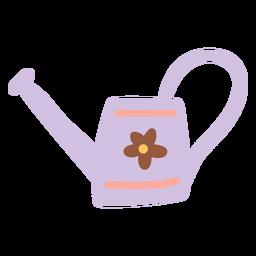 Regador com desenho de flores