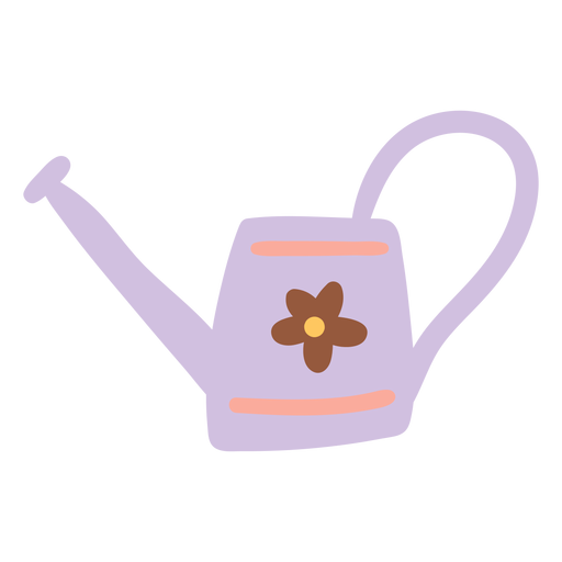 Watering Can with flower design  Transparent PNG