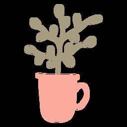 Planta em um plantador de caneca