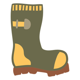 Garden boots green color