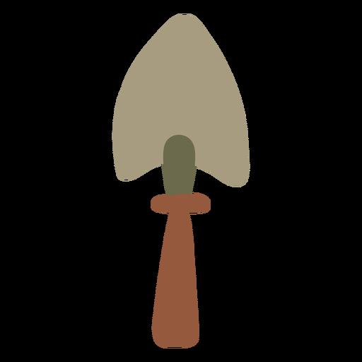 Garden shovel pointing upwards