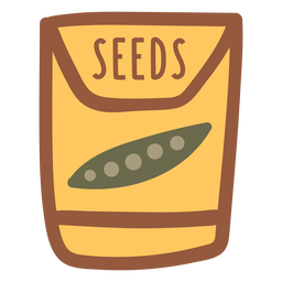 Garden seeds in a packet