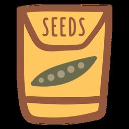 Semillas de jardín en un paquete