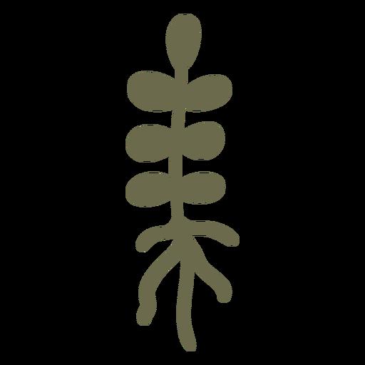 Planta simple con raices Transparent PNG