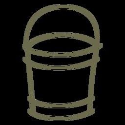 Curso simples de balde de jardim