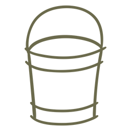 Garden pail simple stroke