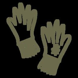 Curso de luvas de jardinagem simples