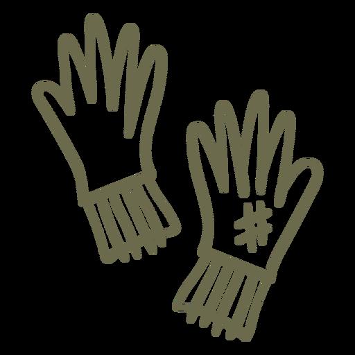 Gardening gloves simple stroke Transparent PNG