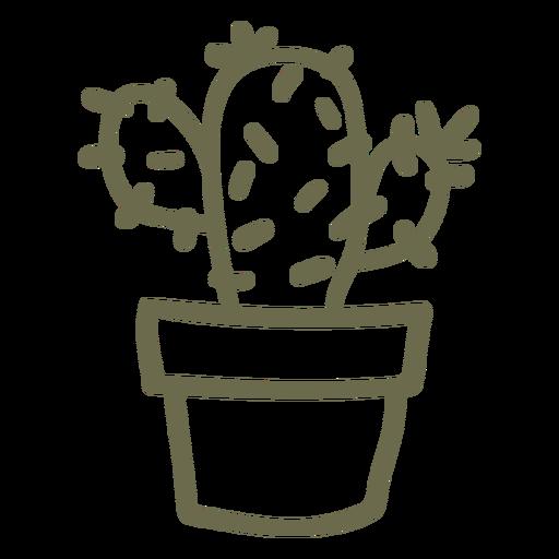 Cactus en un golpe de maceta Transparent PNG