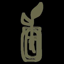 Pflanze mit Wurzeln auf Wasserstrich