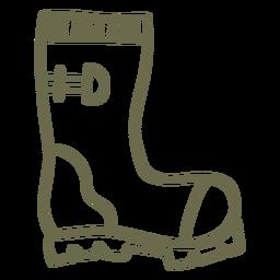 Botas de jardín de trazo simple