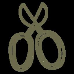 tijeras de jardín trazo simple