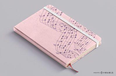Design da capa do caderno de música