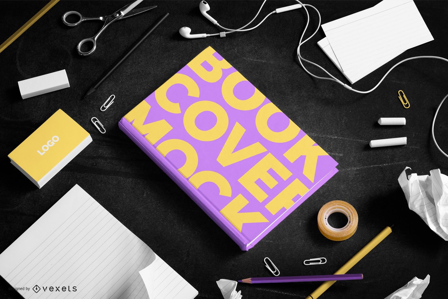 Book cover mockup composition