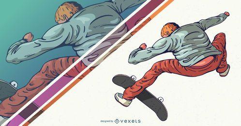 Skateboarder Charakter Design