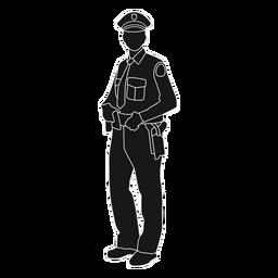Polizei hält Gürtel Silhouette