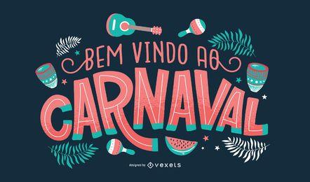 Carnaval Português Lettering Design