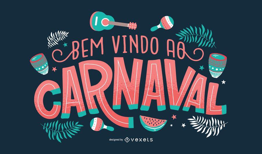 Carnival Portuguese Lettering Design