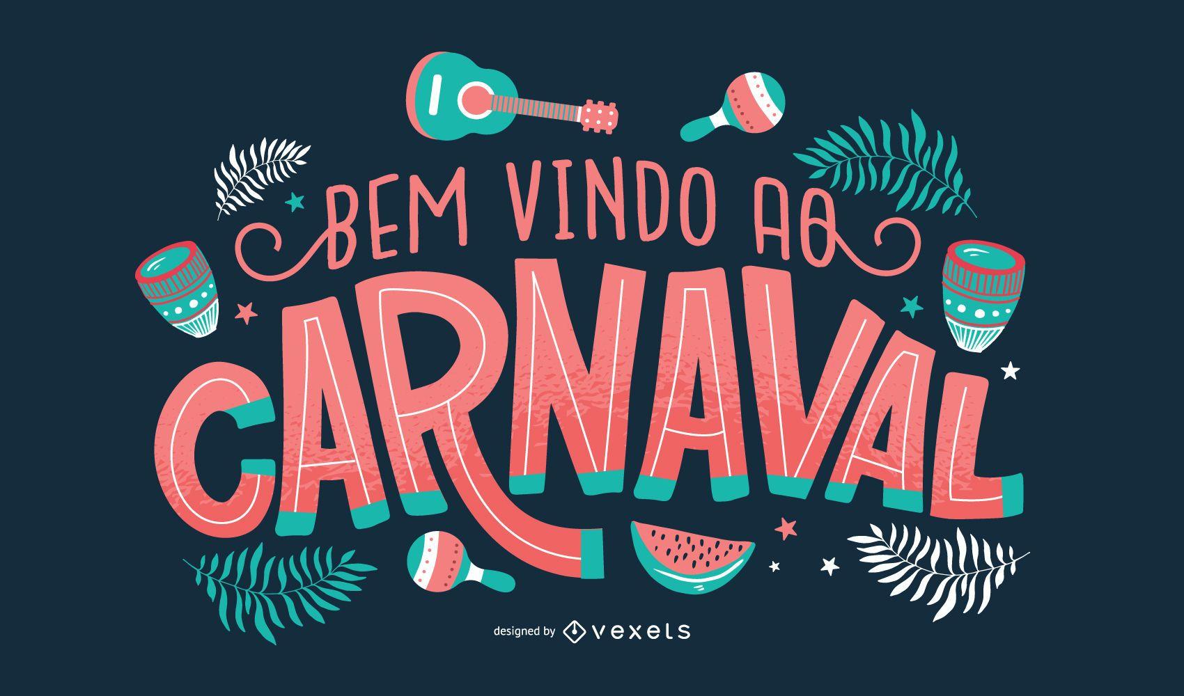 Diseño de letras portuguesas de carnaval