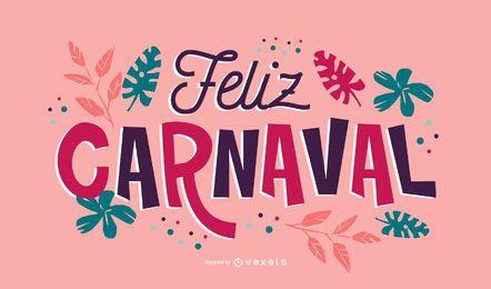 Diseño de cita de carnaval en español