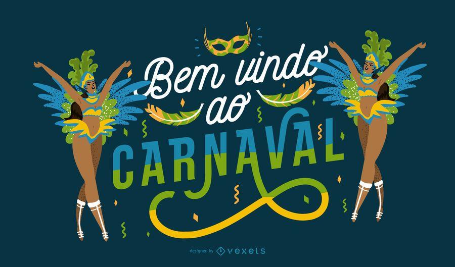 Bienvenido a Carnival Portuguese Quote Design
