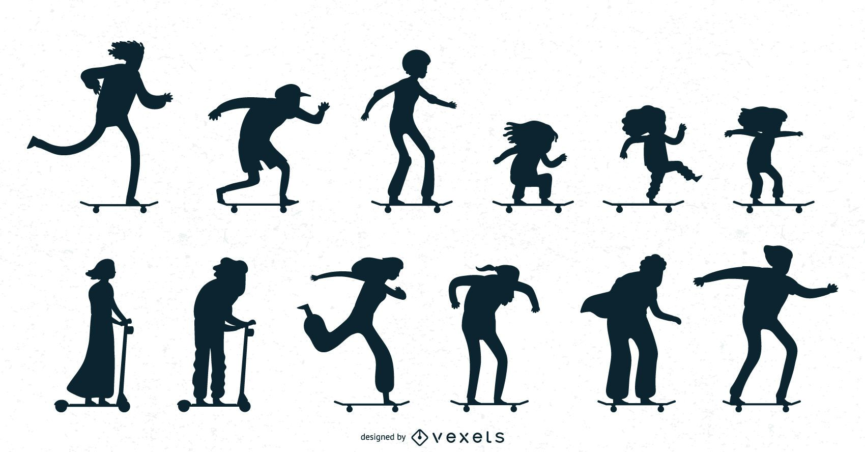 Skating silhouettes collection