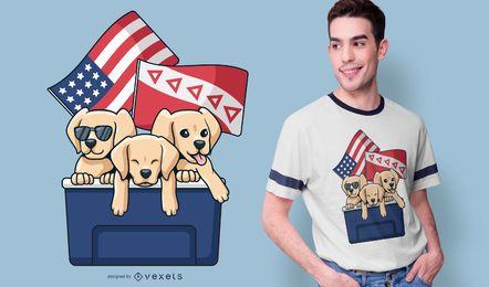 Diseño de camiseta Tau Kappa Epsilon Puppies