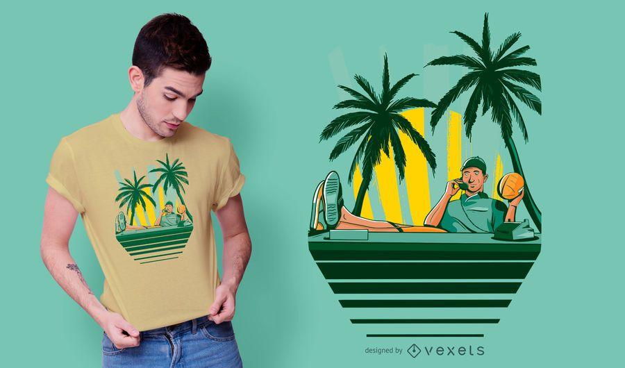 Design de camiseta para jogador de futebol americano