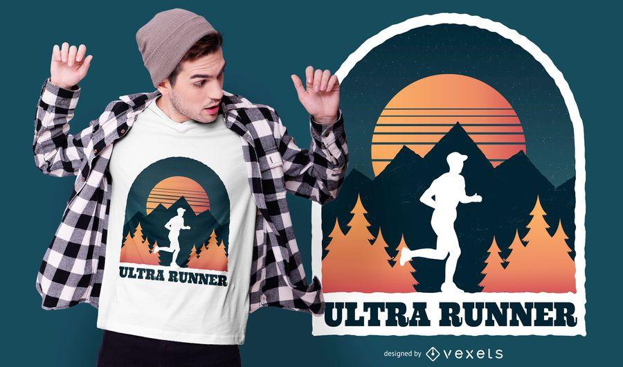 Design de t-shirt de corredor ultra