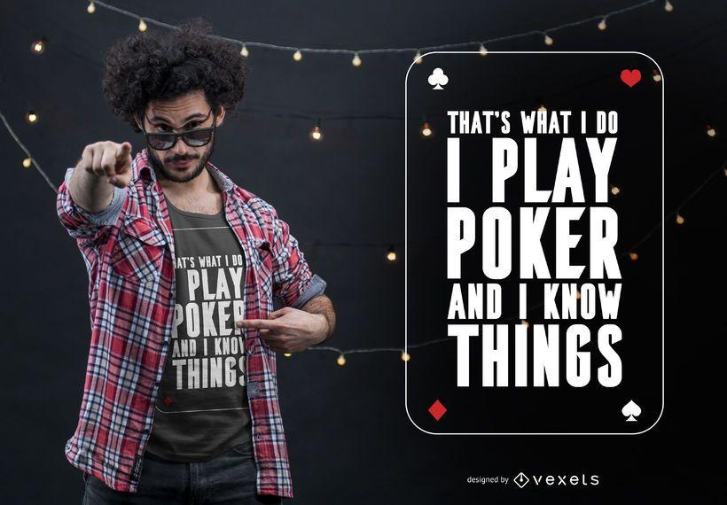 Play poker t-shirt design