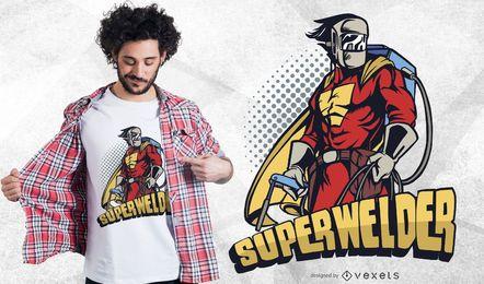 Design engraçado do t-shirt do Superwelder