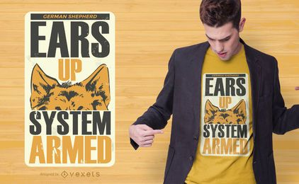Ears up dog t-shirt design