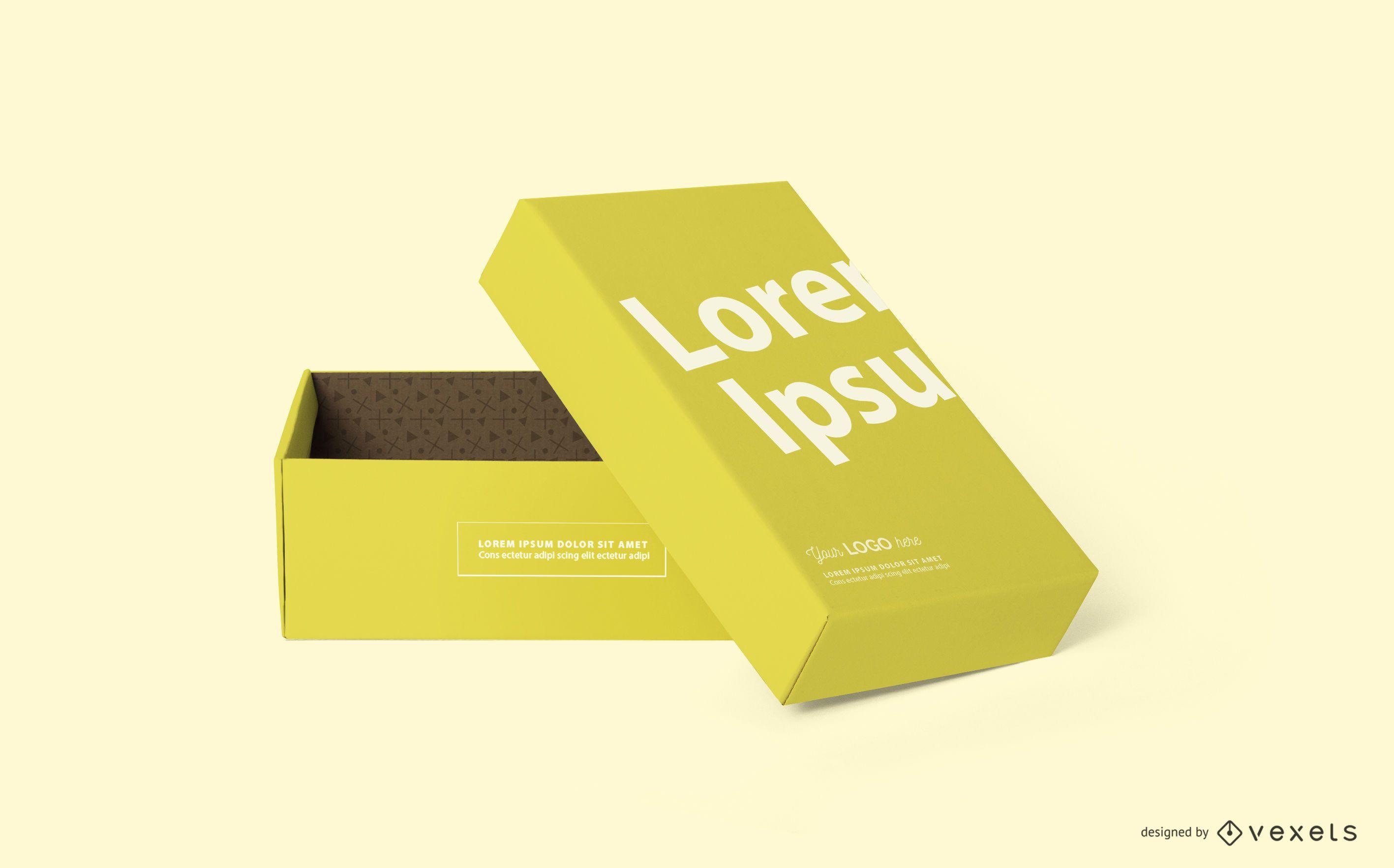 Open box mockup design