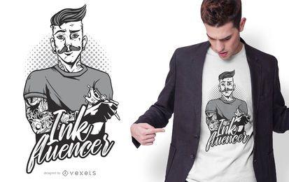 Design de camiseta com tinteiro
