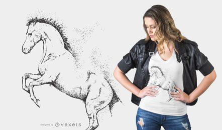 Dotted horse t-shirt design