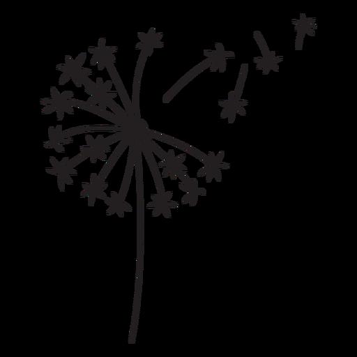 dandelion simple stroke Transparent PNG