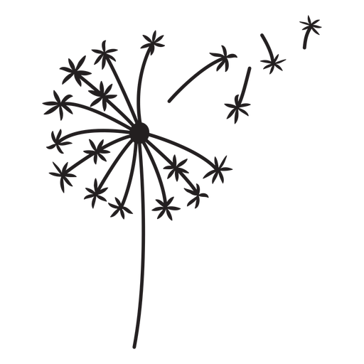 dandelion simple stroke