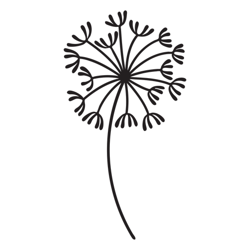 dandelion plant stroke Transparent PNG