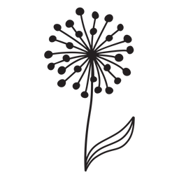 dandelion with leaf stroke