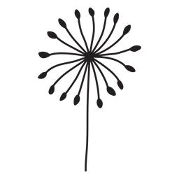 simple petals dandelion stroke