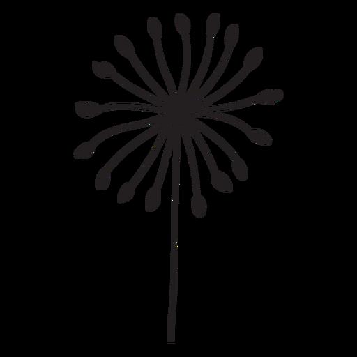 simple petals dandelion stroke Transparent PNG
