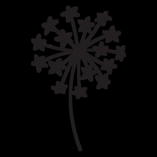 dandelion star-shaped petals stroke Transparent PNG