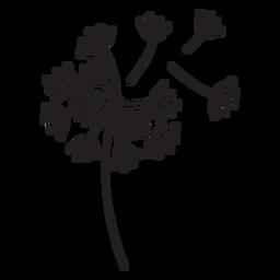 geflogen Blütenblätter Löwenzahn Schlaganfall