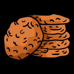Biscoitos Anzac desenhados à mão