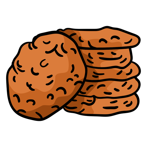 Anzac biscuits hand drawn Transparent PNG